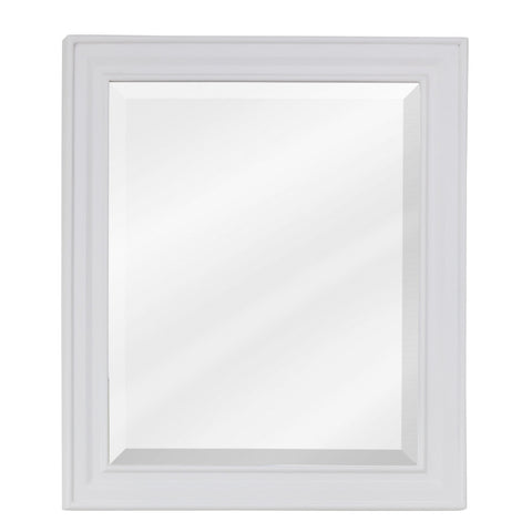 "20"" x 24""H Transitional Style Mirror White Finish"