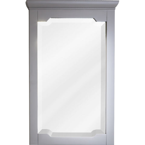"22""W x 34""H Transitional Style Mirror Grey Finish"
