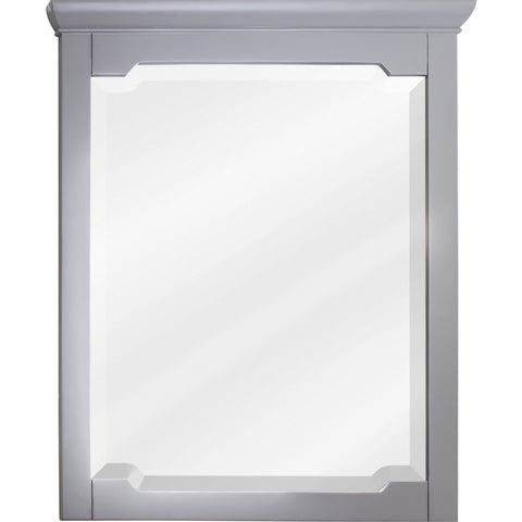 "28""W x 34""H Traditional Style Mirror Grey Finish"