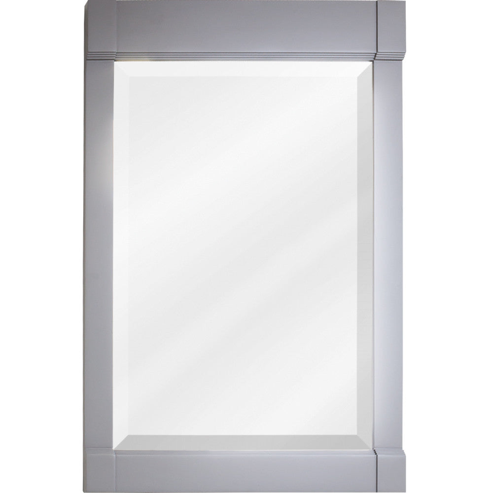 "22""W x 34""H Traditional Style Mirror Grey Finish"