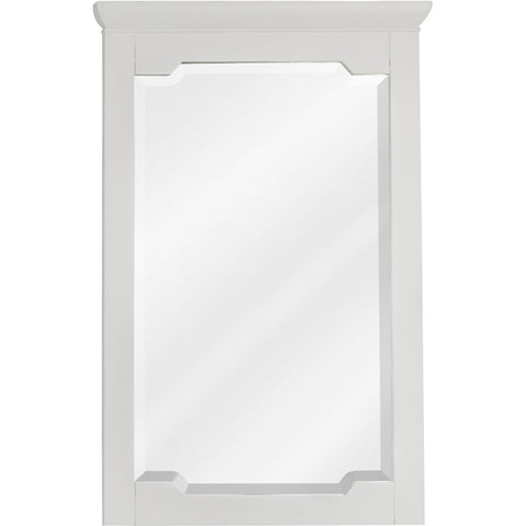 "22""W x 34""H Transitional Stlye Mirror White Finish"