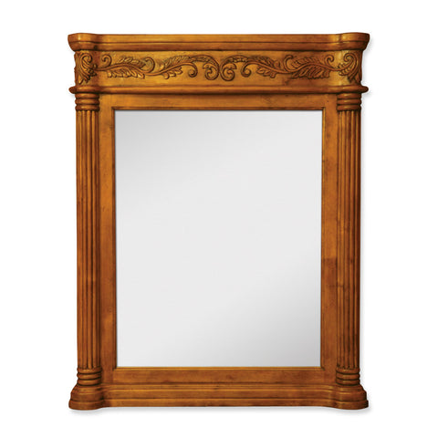 "33""W x 42""H Traditional Mirror Golden Pecan Finish - DecorativeResources.com"