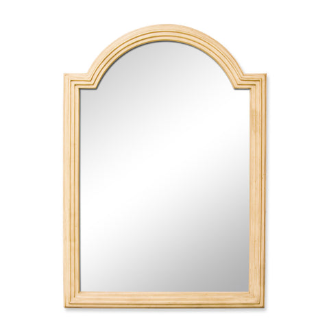 "26""W x 36""H Traditional Style Mirror Buttercream Finish"