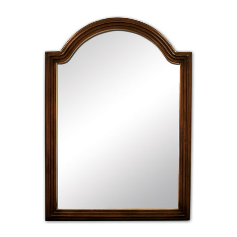 "26""W x 36""H Traditional Style Mirror Walnut Finish"