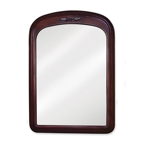 "21""W X 30""H Traditional Style Mirror Merlot Finish"