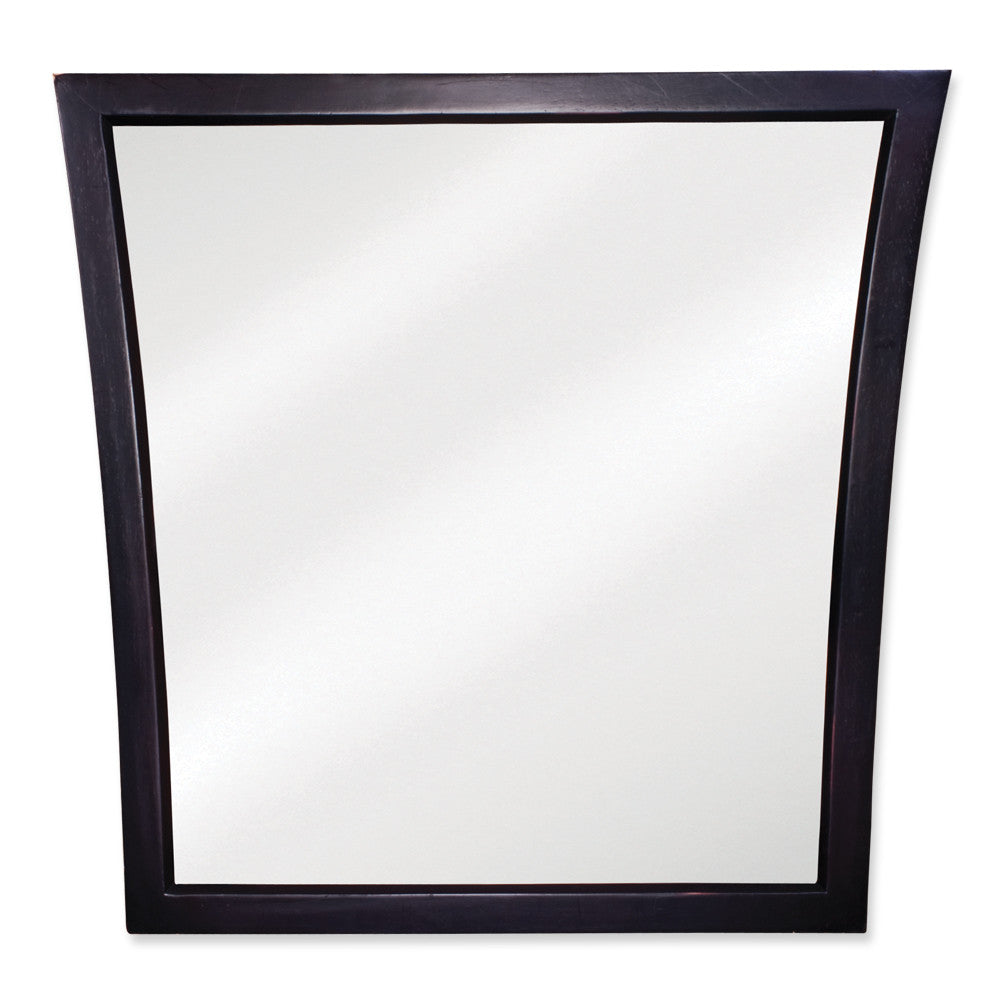 "25""W X 25""H Transitional Style Mirror Black Finish"