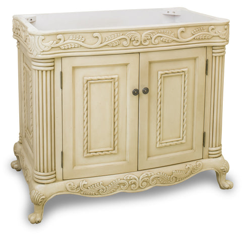 "Traditional Antique Finish 36"" Vanity Base Without Countertop - DecorativeResources.com"