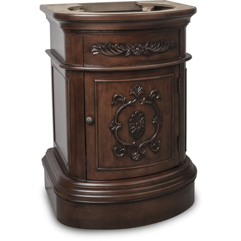 "Traditional Merlot Finish 24"" Vanity Base Without Countertop - DecorativeResources.com"
