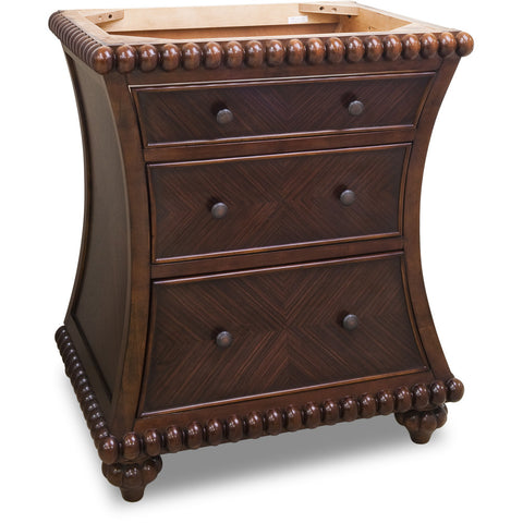 "Traditional 30"" Rosewood Finish Vanity Base Without Countertop - DecorativeResources.com"