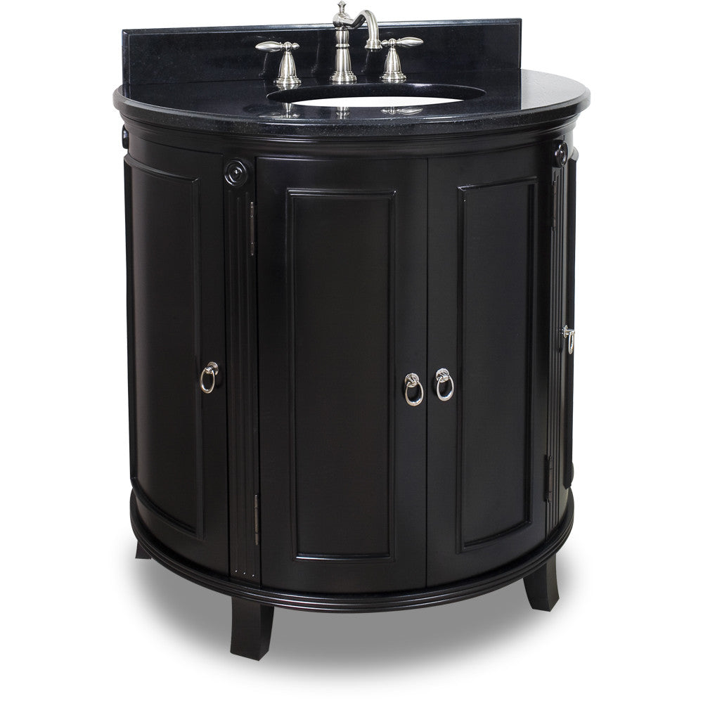 "Traditional Espresso Finish 33"" Vanity Base Without Countertop"