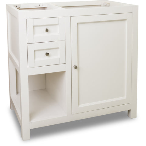 "Traditional Cream White Finish 36"" Vanity Base Without Countertop"