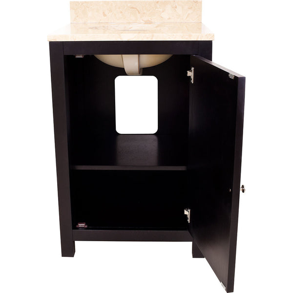 "Transitional Espresso Finish 24"" Vanity Base Without Countertop"