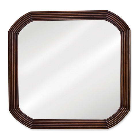 "26""W x 26""H Traditional Style Mirror Walnut Finish"