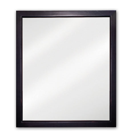 "24""W X 28""H Transitional Style Mirror Black Finish"
