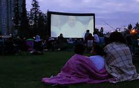 Outdoor movies by Bounce Alot Party & Event Renntals, Inc.