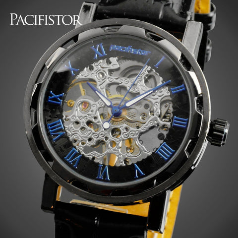 PACIFISTOR Skeleton Hollow Mechanical Watch