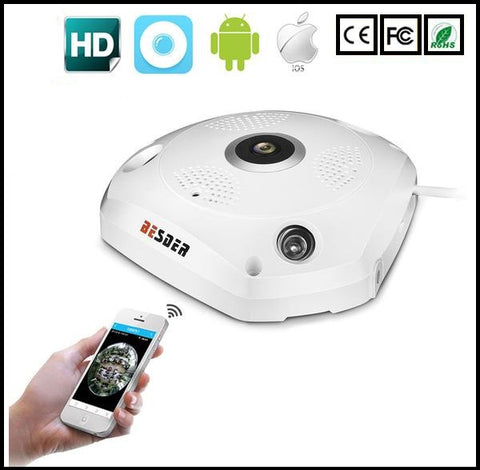 3D VR 360 Degree Panoramic IP Camera 960P 1.3MP - MorningWoodWatches
