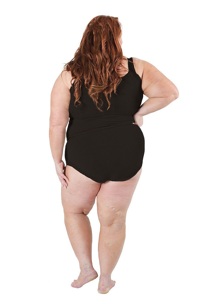 Singlet - Ribbed with lace trim Plus Size Intimates