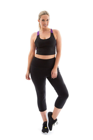 Turn up the Heat Capri Legging black  turn up the heat capri legging front