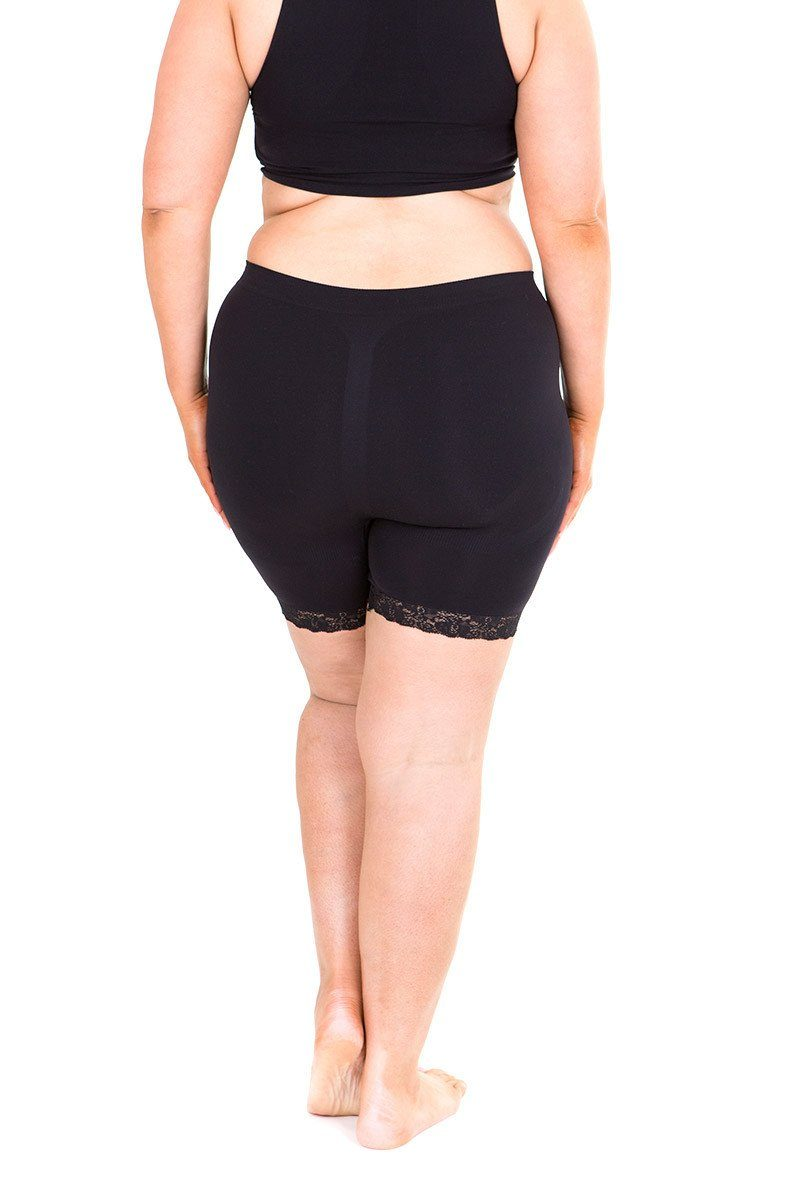 Anti Chafing Shorts Lace Trim black