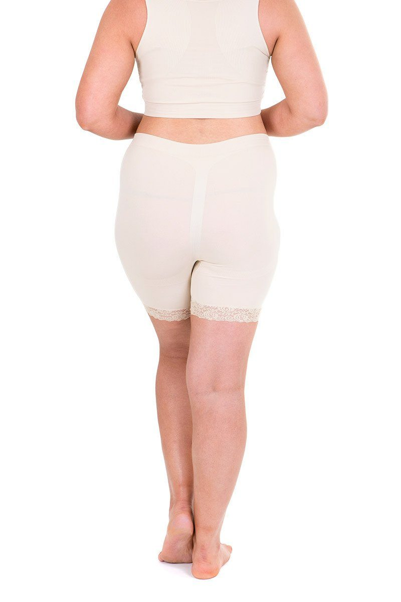 Anti Chafing Shorts Lace Trim nude