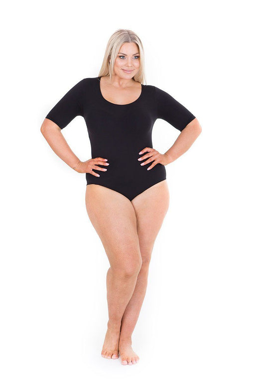 Elbow Sleeve Bodysuit black