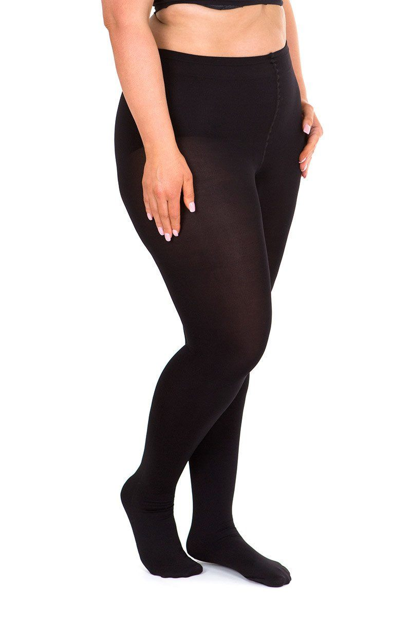 Womens Plus Size 20 Denier Tights - Nude - Size 14-28