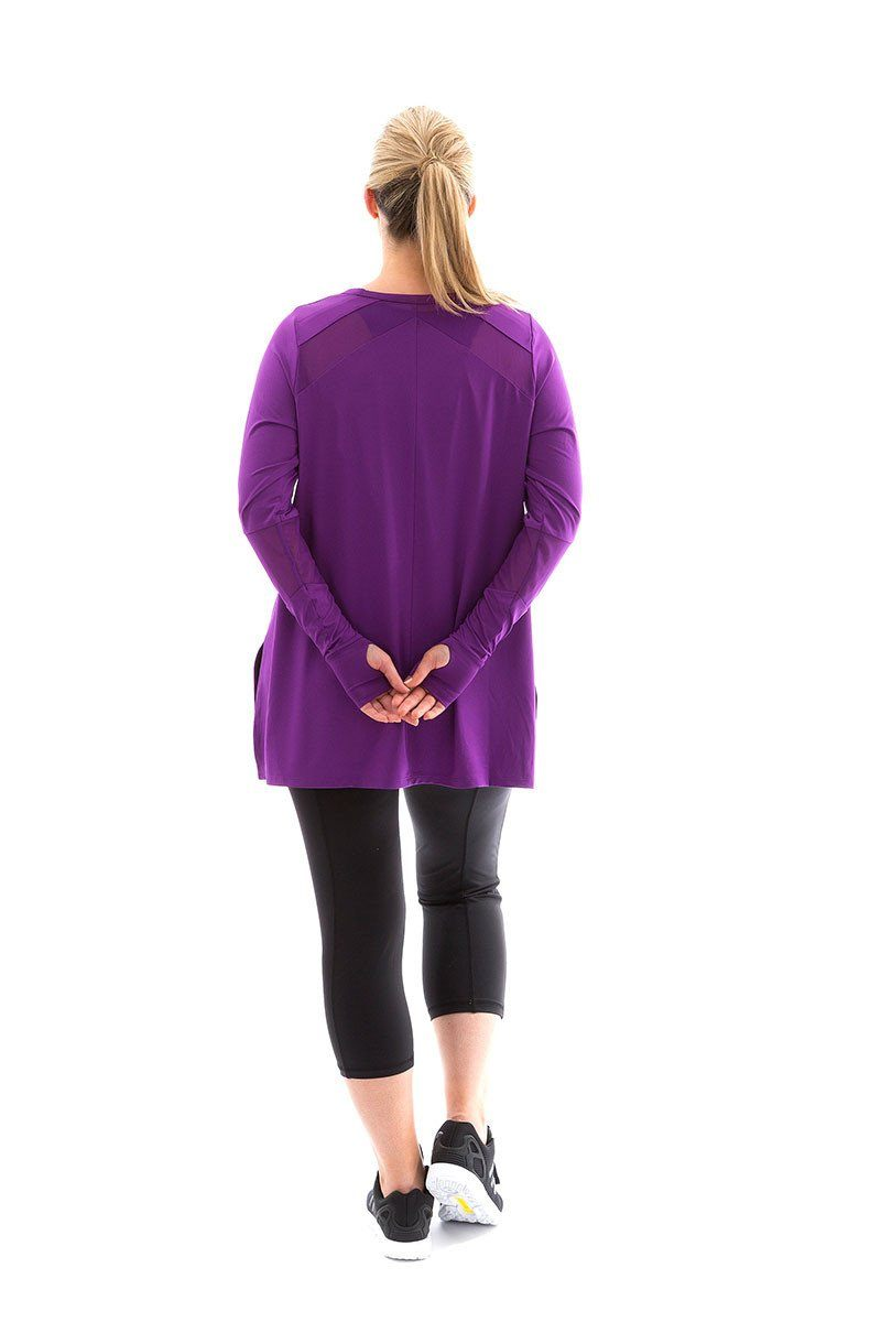Power Long Sleeve Tee acai with acai mesh power long sleeve tee back