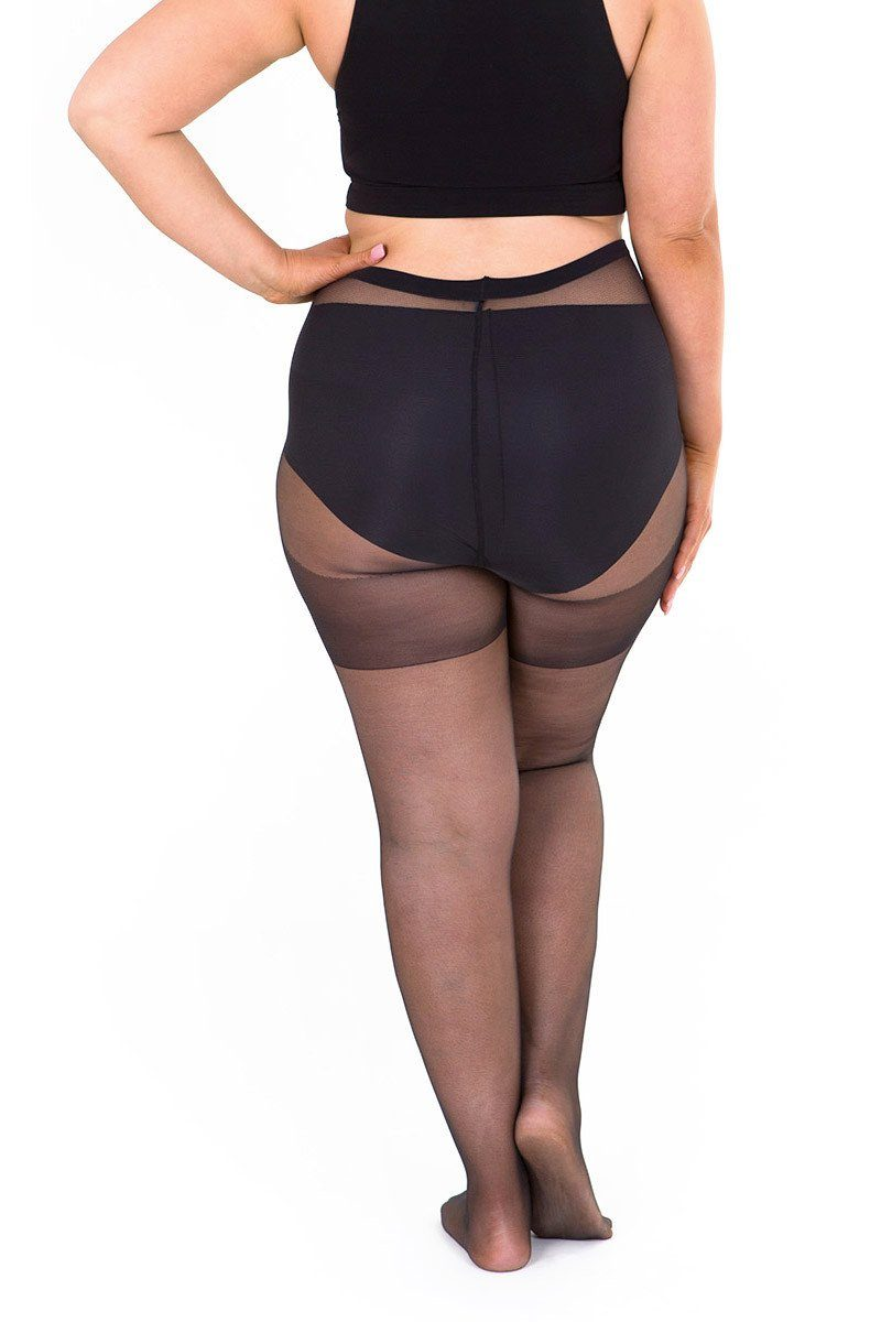 Sheer 20 Denier Full Tights Plus Size Tights