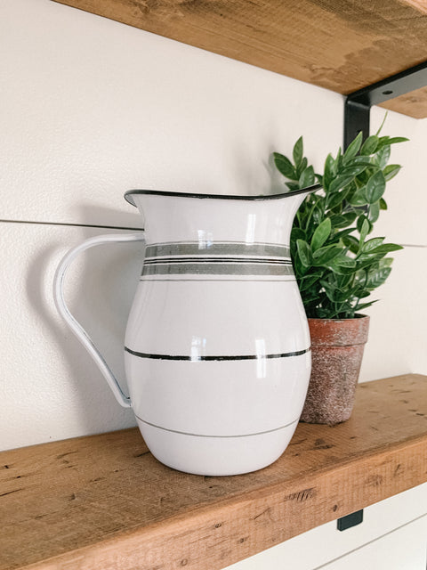 Stripes Pitcher