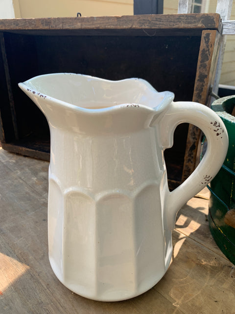 "White Pitcher 9"" Tall"