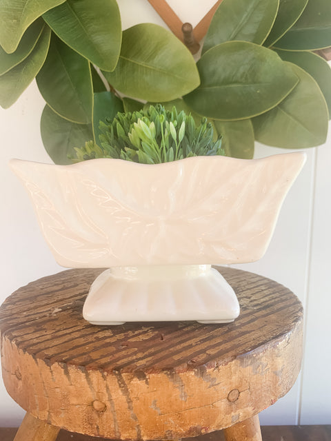 White Leaf Planter