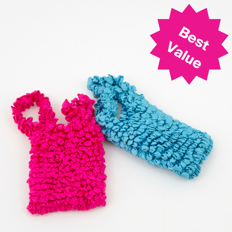 Set of Two Itty Bitty Big Bags - Pink & Blue
