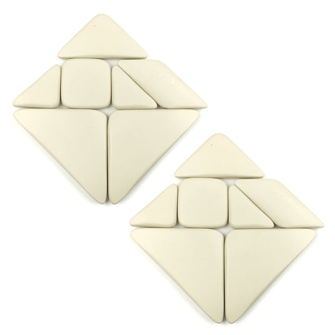 Two Sets of Pebbles Tangram Puzzle Pieces