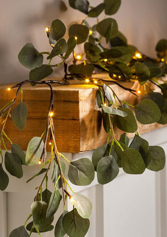 Eucalyptus Lighted Garland 72""