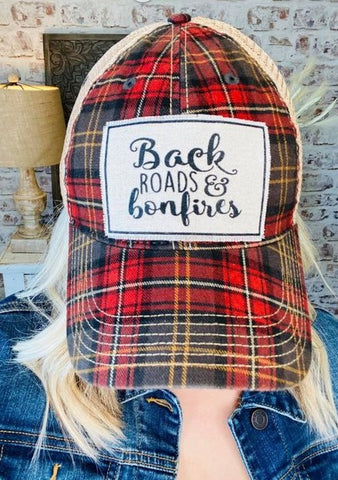 Back Roads & Bonfires Trucker Hat