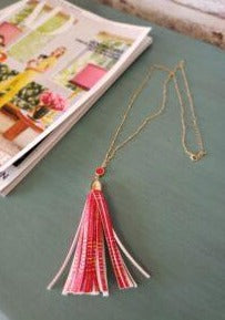 Tassel Necklace in Red