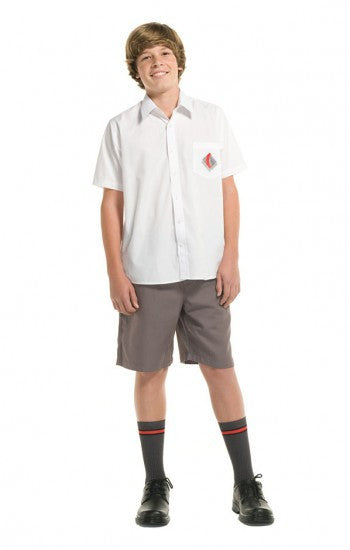 White <br> CTHS - Boys Short Sleeved Classic Shirt