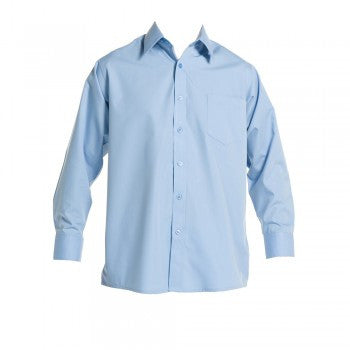 School Blue <br>Boys Long Sleeved Classic Shirt