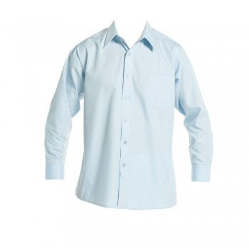 Sky Blue<br>Boys Long Sleeved Classic Shirt