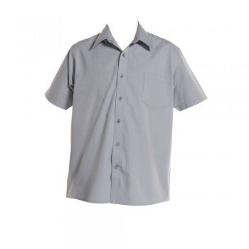 Grey <br>Boys Short Sleeved Open Necked Shirt