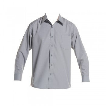 Grey <br>Boys Long Sleeved Classic Shirt