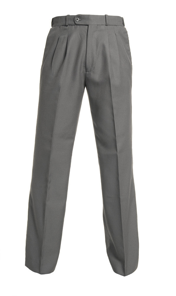 Mid Grey Boys Extendable Waist College Trouser