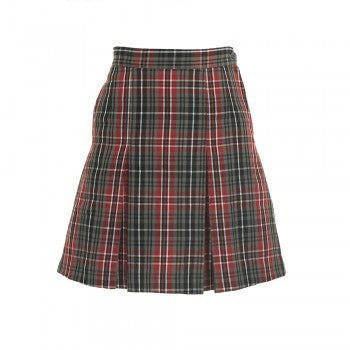 Red Grey <Br>Cths - Pleated Skirt - Red Pleated Skirt