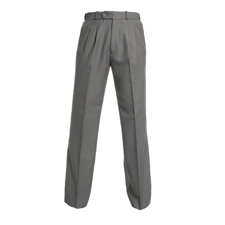 Grey<Br>Boys Extendable Waist College Trouser - Grey College Trouser
