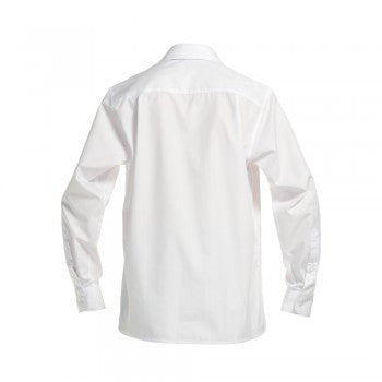 White <Br>Girls Long Sleeved Basic Blouse - White Basic Blouse