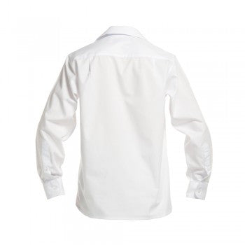 White <Br>Girls Long Sleeved Peter Pan Blouse - White Ls Peter Pan Blouse