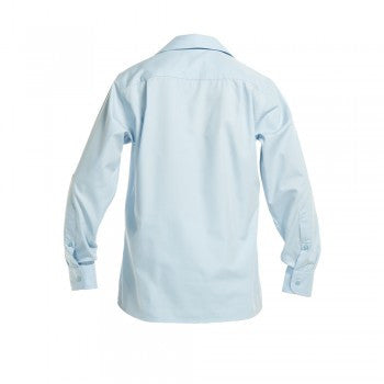 Sky Blue <br>Girls Long Sleeved Peter Pan Blouse