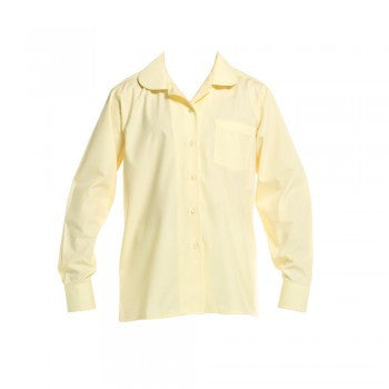Lemon <br>Girls Long Sleeved Peter Pan Blouse