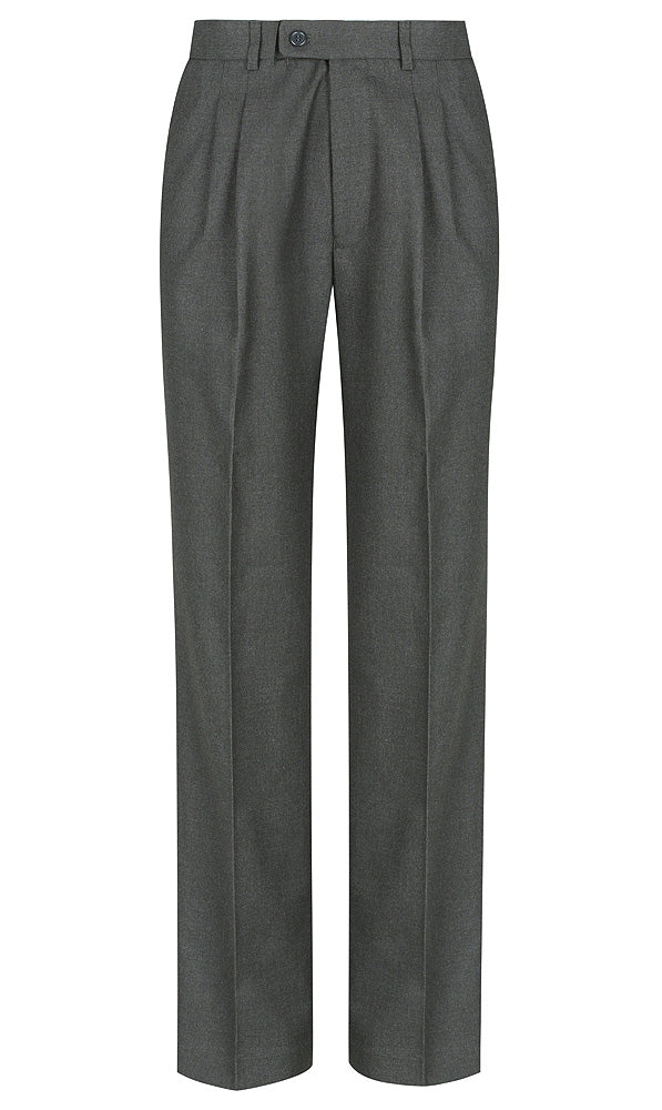 Dark Grey<br>Boys Extendable Waist College Trouser